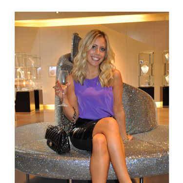 """<p>Jacqui Meddings shows off her polished legs that were tanned and treated by skincare specialist Nathalie Eleni and the Gillette Venus team.<br /><br />Loving Jacqui's locks? Celebrity hair stylest <a href=""""http://www.mdlondon.co.uk/"""" target=""""_blank"""">Michael Douglas</a> was on hand at the <a href=""""http://uk.swarovski-elements.com/eShop"""">Swarovski Cystallized</a> lounge to do our hair with the best <a href=""""http://www.shockwaves.com/en-EN/index.aspx"""" target=""""_blank"""">Shockwaves</a> and <a href=""""http://www.boots.com/en/Boots-Brands-A-to-Z/Silvikrin"""" target=""""_blank"""">Silvikrin</a> products.</p><p>To put a cherry on the cake we even had <a href=""""http://www.maxfactor.co.uk/uk/home/default.htm"""" target=""""_blank"""">Maxfactor</a> manicures to get us ready for the evening's after party!<br /> </p>"""