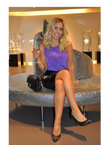 "<p>Jacqui Meddings shows off her polished legs that were tanned and treated by skincare specialist Nathalie Eleni and the Gillette Venus team.<br /><br />Loving Jacqui's locks? Celebrity hair stylest <a href=""http://www.mdlondon.co.uk/"" target=""_blank"">Michael Douglas</a> was on hand at the <a href=""http://uk.swarovski-elements.com/eShop"">Swarovski Cystallized</a> lounge to do our hair with the best <a href=""http://www.shockwaves.com/en-EN/index.aspx"" target=""_blank"">Shockwaves</a> and <a href=""http://www.boots.com/en/Boots-Brands-A-to-Z/Silvikrin"" target=""_blank"">Silvikrin</a> products.</p> <p>To put a cherry on the cake we even had <a href=""http://www.maxfactor.co.uk/uk/home/default.htm"" target=""_blank"">Maxfactor</a> manicures to get us ready for the evening's after party!<br /> </p>"