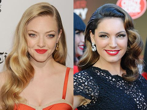 <p>Vintage is back, and it's here to stay in 2013. Amanda Seyfried and Kelly Brook are just two of the many celebrities that flaunt these side-swept old Hollywood waves on the red carpet. Why not go for a timeless, classic look?</p>