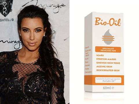 "<p>Plenty of celebrities including mum-to-be Kim Kardashian are huge fans of Bio-Oil skincare. ""It prevents wrinkles around my eyes and stretch marks over my body,"" says Kim.</p> <p>This bargain beauty treatment not only<span class=""st""> improve the appearance of scars and uneven skin tone, it's great for dehydrated skin. Definitely put this on your shopping list to battle the cold winter weather. </span></p> <p>Bio-Oil, £8.95, <a href=""http://www.boots.com/en/Bio-Oil-60ml_19765/"" target=""_blank"">Boots</a></p>"
