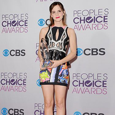 <p>Flying the flag for us brits, Emma Watson looked beaut dressed in a Peter Pilotto dress. The 22-year-old actress picked up the People's Choice award for Favourite Dramatic Movie Actress for her work in The Perks of Being a Wallflower. You go girl!</p>