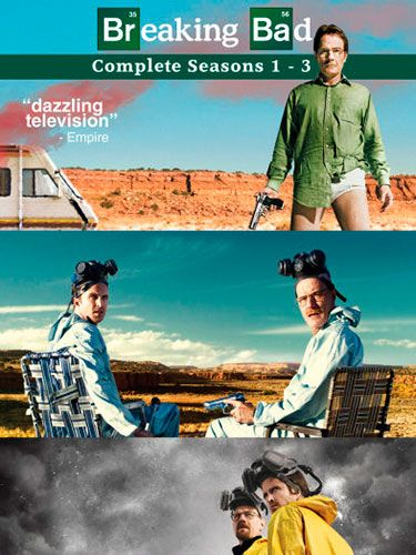 <p>It's the TV series everyone's been talking about, so get your man involved in the Breaking Bad action with the first three series on DVD. </p>