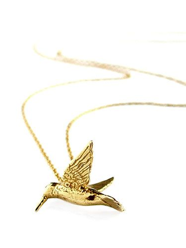 "<p>Picking out some jewellery for your girlfriend? Keep it simple and pretty, like this golden hummingbird necklace from popular jewellery designer Alex Munroe. Failing that, DIAMONDS.</p> <p>Hummingbird necklace, £132, <a href=""http://www.alexmonroe.com/shop/hummingbird-necklace"" target=""_blank"">alexmunroe.com</a></p> <p><a href=""Valentine's%20day%20gift%20ideas%20for%20men"" target=""_blank"">TOP 10 ROMANTIC FILMS</a></p> <p><a href=""http://www.cosmopolitan.co.uk/travel/weekend-breaks/romantic-breaks/top-ten-breaks-for-valentines-day-in-the-uk-as-suggested-by-mr-and-mrs-smith?click=main_sr"" target=""_blank"">TOP 10 VALENTINE'S DAY HOTELS</a></p> <p><a href=""http://www.cosmopolitan.co.uk/love-sex/relationships/best-proposal-ideas-how-team-cosmo-got-proposed-to?click=main_sr#fbIndex1"" target=""_blank"">COSMO PROPOSAL STORIES</a></p>"