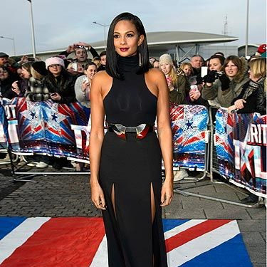 <p>Alesha Dixon wore this black dress to launch the first auditions of the 2013 Britain's Got Talent. Angelina Jolie eat your heart out, because Alesha didn't have just one thigh-high split… she had two! The statement Aqua belt is the perfect touch. We'd let Alesha through to the next round in the style stakes. </p>