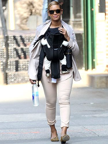 <p>Aww how cute! Beyonce and Blue Ivy out on the streets of New York wearing matching Charlotte Olympia shoes. This new mummy has serious style</p>