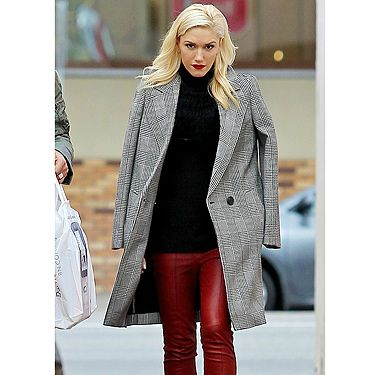 <p>She's the ultimate rock chick so it's no wonder Gwen Stefani wears her rockin' red leather trousers with ease.</p><p>In true Gwen style, she gives an otherwise casual look a polished edge, with heeled ankle boots and a tailored check coat (worn oh-so stylishly over her shoulders!) - plus her trademark red lippy, of course.</p><p>The fashion brave should follow suit - coloured leather is the fresh way to wear slick slacks this season - and Gwen sure looks RED HOT in hers!</p>