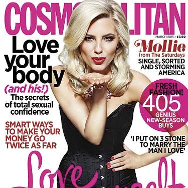 """<p>This fab new issue of Cosmopolitan is full of everything you need! We've got spot on relationship advice, fashion buys to make your wardrobe go wow and this season's top beauty trends. Plus, we've got sexy Saturday's member Mollie King letting us in on her heartbreak secrets. Get your hands on a copy for just £2* now!<br /><br /><a title=""""http://www.cosmopolitan.co.uk/celebs/entertainment/watch-behind-the-scenes-video-of-mollie-king-on-her-cosmopolitan-cover-shoot-4688"""" href=""""http://www.cosmopolitan.co.uk/celebs/entertainment/watch-behind-the-scenes-video-of-mollie-king-on-her-cosmopolitan-cover-shoot-4688"""" target=""""_blank"""">GO BEHIND THE SCENES OF MOLLIE'S COVER SHOOT</a></p><p>*£2.50 in some areas</p>"""