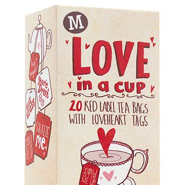 """<p>Treat your loved one to a romantic cuppa in bed with these adorable tea bags! Complete with love heart tags and five different romantic messages, there really isn't a better way to say I love you. Plus with 20 bags for a £1 (bargain!), you can be romantic for the whole of February!<br /><br />Love in a cup teabags, £1, <a title=""""https://www.morrisons.co.uk/"""" href=""""https://www.morrisons.co.uk/"""" target=""""_blank"""">Morrisons</a></p><p><a title=""""http://www.cosmopolitan.co.uk/love-sex/karma-sutra/yes-yes-yes-78287"""" href=""""http://www.cosmopolitan.co.uk/love-sex/karma-sutra/yes-yes-yes-78287"""" target=""""_blank"""">ADD EXTRA FUN TO THE BEDROOM WITH THESE MOVES!</a></p>"""