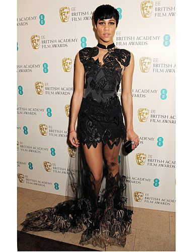 <p>Zawe Ashton is a Cosmo fave, which is why she walked away with our Best Newcomer award at the Cosmopolitan Ultimate Women of the Year Awards 2012. The dress the actress chose for the BAFTAs 2013 is Julien Macdonald and a real showstopper.</p>
