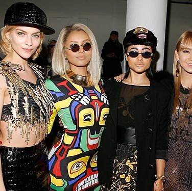 <p>Leigh Lezark, Kat Graham, singer Natalia Kills and singer CL 2ne1 attended the Jeremy Scott 2013 fashion show during MADE fashion week in New York City. There is so much going on in this picture, it sort of hurts our eyes.</p>