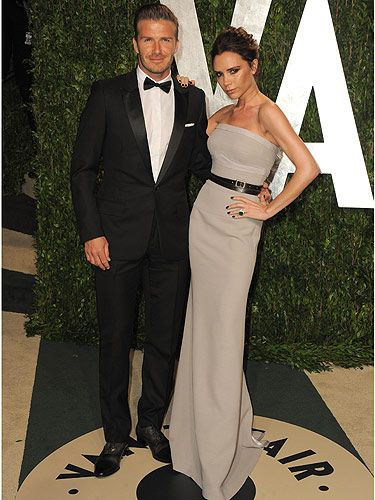 <p>Don't they just look gorgeous? David and Victoria Beckham owned the red carpet at the Vanity Fair Oscar's bash</p>