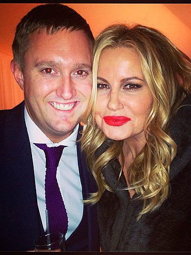 "<p>Look who Dean Piper ran into at the <span class=""st"" dir=""ltr"">Elton John AIDS Foundation Academy Awards Viewing<em> </em>Party. It's </span>Jennifer Coolidge aka Stifler's mum. Although she's famous for her role in American Pie, we're currently loving her in the sitcom '2 Broke Girls'. </p> <p> </p>"