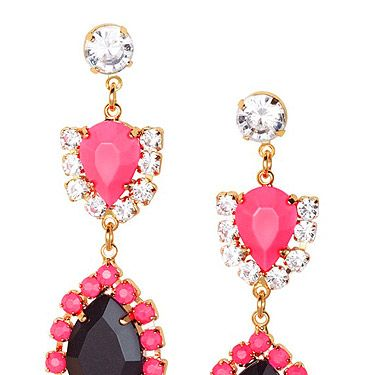 """<p>Did someone say bling? Neon jewellery is a massive trend that we can't get enough of. These earrings are an absolute steal. <br /><br />Earrings, £5.99, <a href=""""http://www.hm.com/gb/product/03096?article=03096-A%20"""" target=""""_blank"""">H&M</a></p>"""