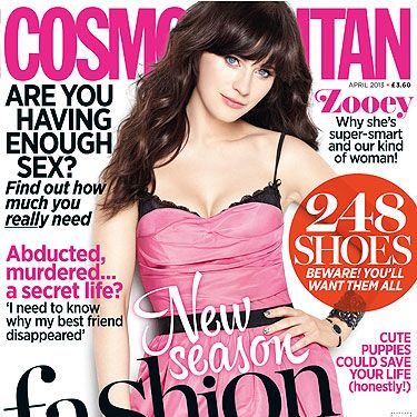 <p>The April issue of Cosmopolitan is a thing of beauty: From our quirky yet kick-ass cover girl Zooey Deschanel, through to new-season fashion, 248 shoes you'll fall head-over-heels for, find out how much sex you *really* need and how cute puppies could save your life (seriously). Buy it NOW!</p>