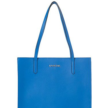 <p>The Jaeger Jennifer bag is the perfect prezzie for your mum. It's new in store this week and it comes in an array of bright colours. Our fave is the blue. It's roomy enough for all the daily essentials.</p>