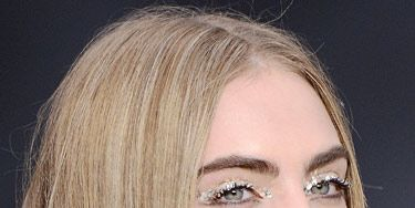 """<p>As <strong>Cara Delevingne</strong> brilliantly demonstrates, the coolest eye makeup trend this season - set by Chanel - is glitter peepers. But forget fine particles, glitter's gone supersized! Balance it with a nude lip and you've got fun (without being too young!) evening makeup nailed.</p> <p>Join the glitterati with Frontcover's Sparkler set (£16, <a title=""""http://www.frontcovercosmetics.com"""" href=""""http://www.frontcovercosmetics.com"""" target=""""_blank"""">frontcovercosmetics.com</a>) which has a choice of three pots of glitter dots, a specially formulated eye gel and tools to help adhere it to your eyelids with ease. </p>"""