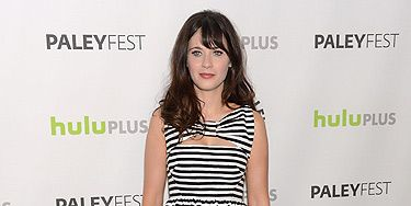 """<p>We're constantly taking style tips from Zooey Deschanel and this look is no exception. The actress looks as pretty as a picture in this striped Kate Spade New York dress. Cosmo's April cover star wore this monochrome number at the Paley Center For Media's PaleyFest in Beverly Hills. The casual dress and tights combo is a look we can easily recreate ourselves, which always makes us happy. We love the New Girl actress, do you?</p> <div style=""""overflow: hidden; color: #000000; background-color: #ffffff; text-align: left; text-decoration: none;""""> </div>"""