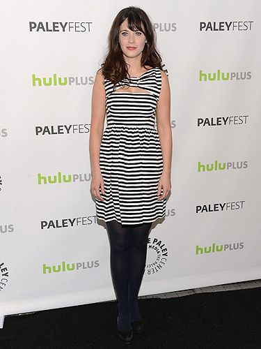 "<p>We're constantly taking style tips from Zooey Deschanel and this look is no exception. The actress looks as pretty as a picture in this striped Kate Spade New York dress. Cosmo's April cover star wore this monochrome number at the Paley Center For Media's PaleyFest in Beverly Hills. The casual dress and tights combo is a look we can easily recreate ourselves, which always makes us happy. We love the New Girl actress, do you?</p> <div style=""overflow: hidden; color: #000000; background-color: #ffffff; text-align: left; text-decoration: none;""> </div>"