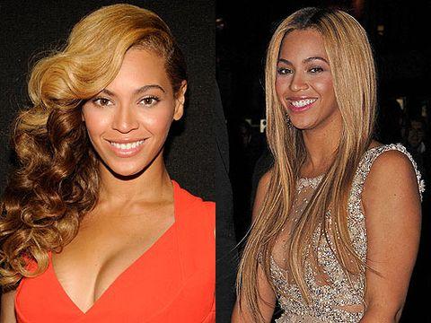 Celebrity Hair Curly Vs Straight