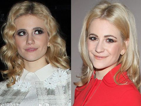 <p>Queen of cute, Pixie Lott, has been showcasing bouncy curls of late. Do you prefer her hair in a spin, or when it's straight and sleek?</p>
