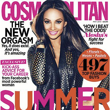 You won't want to miss out on the May issue of Cosmopolitan!  From gorgeous cover girl Alesha Dixon sharing her tips for success, through to 497 summer fashion buys and the secret to the new orgasm… it's a good one!
