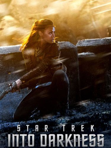 Zoe Saldana looks totally fierce in the latest film poster for <em>Star Trek Into Darkness</em>, doesn't she? Tipped as one of the absolute must-see films of summer 2013, the movie follows Uhura (Zoe) and the rest of the Enterprise crew (think yummy Chris Pine and Zachary Quinto) as they defy regulations and head out to bring some intergalactic terrorists to justice. Zoe's character had a pretty mini role in the first film but, judging from her action-kicking pose on her VERY OWN poster, we bet that, this time around, she's set to play a very important role in Star Trek Into Darkness. We can't wait for it to hit cinemas on the 17th May...