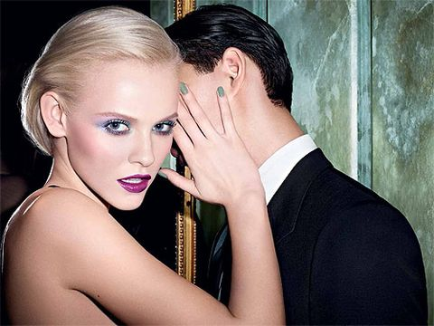"""<p>YSL Beaute's spring makeup collection is as schmokin', in true 60s black tie style. A sultry evening look, the lilac and jade shades within the collection are sexy yet sophisticated. Try it tonight.<br /> <br />Buy the collection at <a href=""""http://www.yslbeauty.co.uk/make-up/colour-collections/spring-look-2013.aspx"""" target=""""_blank"""">YSL </a></p>"""