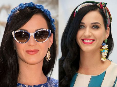 """<p>Katy Perry has never been afraid to experiment with her look and we can't get enough of the hair trends she's been trying of late. The blue floral headband she chose for a Smurfs 2 photocall (how appropriate!) was chic and summery, while her tropical knotted headband had us dreaming of cocktails by the pool. Try this Southwestern print headwrap on your next holiday, £3.15 from <a title=""""forever 21 headwrap"""" href=""""http://www.forever21.com/UK/Product/Product.aspx?BR=f21&Category=acc_hairgoods&ProductID=1026232439&VariantID="""" target=""""_blank"""">Forever21.com</a> or start a flora frenzy with this blue rose flower crown, £28 from <a title=""""rocknrose floral blue headband"""" href=""""http://www.rocknrose.co.uk/headwear-c6/headbands-c14/lulu-rose-flower-crown-headband-in-blue-p467"""" target=""""_blank"""">Rocknrose.com</a></p>"""