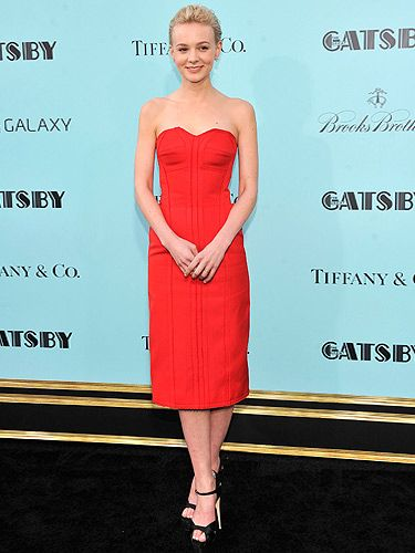 "<p>Oh Carey, you do chic so well. Carey Mulligan chose red for The Great Gatsby premiere in New York City. You can't go wrong with Lanvin, it's simple and stunning. The actress teamed it with black Brian Attwood heels and Tiffany & Co earrings. This lady in red is pure class.</p> <div style=""overflow: hidden; color: #000000; background-color: #ffffff; text-align: left; text-decoration: none;""> </div>"