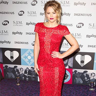 <p>Girls Aloud star Kimberley Walsh showed up at the Music Industry Trust awards in a super glam red carpet ensemble. She opted for a full-length red lace dress and twisted her hair into a sophisticated bun. We thought she looked stunning with this top-to-bottom glamour outfit!</p>