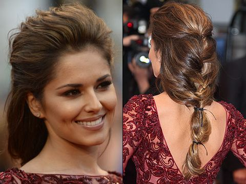 """<p>Proving her preference for big hair still serves her well, Cheryl hit Cannes in her capacity as a L'Oréal Paris ambassador. We adore this ultra loose plait, held together with multiple leather ties. Her neutral makeup was pure class too, strong stuff Chezza!</p> <p><strong>Get the look</strong> with this <a title=""""http://www.cosmopolitan.co.uk/beauty-hair/news/beauty-news/how-to-do-cheryl-coles-cannes-hair-and-makeup"""" href=""""http://www.cosmopolitan.co.uk/beauty-hair/news/beauty-news/how-to-do-cheryl-coles-cannes-hair-and-makeup"""" target=""""_self"""">step-by-step guide</a> by Cheryl's hair stylist!</p>"""