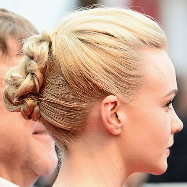 """<p>The cream of Cannes, Carey Mulligan, showed off yet another gorgeous look with her milky blonde locks. While we love her grown-out pixie crop worn down, this intricate up-do is a work of art. <br /><strong></strong></p><p><strong>Get the look</strong> of Carey's colour with the John Frieda Precision Foam Colour for professional results at home. The <a title=""""http://www.johnfrieda.co.uk/homecolour/precision-foam-colour/Sheer-Blonde/9N/Sheer-Blonde-Light-Natural-Blonde"""" href=""""http://www.johnfrieda.co.uk/homecolour/precision-foam-colour/Sheer-Blonde/9N/Sheer-Blonde-Light-Natural-Blonde"""" target=""""_blank"""">Light Natural Blonde shade</a> is a fab match.</p>"""