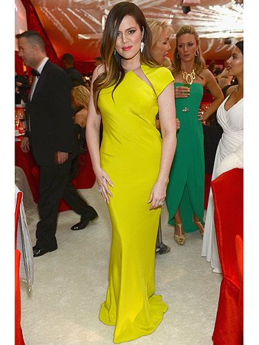<p>TV star Khloé Kardashian attended the 21st Annual Elton John AIDS Foundation Academy Awards Viewing Party in West Hollywood, California. The Kardashian sister sizzled in her vibrant yellow dress; with it's sleek design and mesh cutaway, she blew us away.</p>