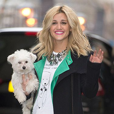 <p>Allow us to introduce you to Cooper. Cooper is Ashley Roberts' pet pooch and we LOVE him. The dog joined Ashley at ITV Studios for a TV appearance. We love the cute critter on Ashley's t-shirt too. And they called it puppy love...</p>
