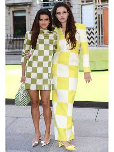 <p>We salute Bip and Evangeline Ling for taking co-ords to a whole other level by matching their ensembles to each other. Bip showed off her tanned legs in a 60s style short green dress with matching handbag and pointy sling-backs, while model Evangeline covered up in a floor-length version with large yellow checks and sling-backs in the same hue. As Bip would put it: coolie yaaaar!</p>