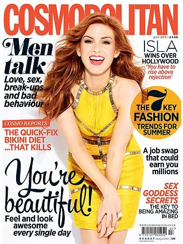 <p>Love The Great Gatsby's Isla Fisher? You won't want to miss the July issue of Cosmopolitan. In it, the comedy queen tells of her journey from Home And Away to Hollywood. Plus get a 60s wardrobe makeover, protect your skin from the sun and test your sexual personality. Phew, what a great summer read! </p>