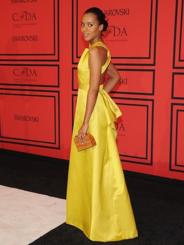 <p>Oh J'ADORE this Django unchained star's ensemble! That stand-out yellow gown from the Jason Wu Resort 2014 collection is absolutely stunning - and we love how she kept her beauty look au naturel (neutral makeup, simple bun) so that the bold frock did all the talking for her...</p>