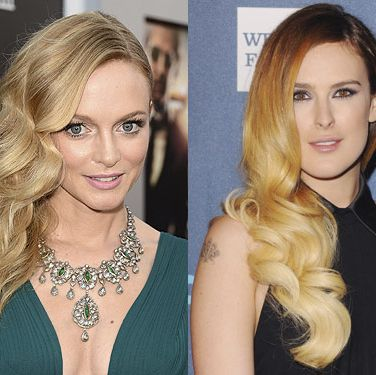 """<p>Deep-parted and side-swept with a glossy finish - the siren wave is the sexiest style of the season. While Heather Graham does the classic glamour version, Rumer Willis with her glossy ombre tones, does big 'n' bouncy in a modern way.<br /><strong> </strong><br /><strong>Get the look:</strong> It's all about the old school heated rollers that are back and better than ever. The FHI Heat Rollers (£22.95, <a href=""""http://www.theukedit.com/fhi-heat-rollers-large/10757661.html?utm_source=COS&utm_medium=Article/Gallery&utm_campaign=DEFAULT"""" target=""""_blank"""">Cosmopolitan Boutique</a>) come in small, medium, large or extra large options. And watch our video on how to so the sexy side-sweep <a href=""""http://www.cosmopolitan.co.uk/beauty-hair/news/hairstyles/how-to-get-side-swept-wavy-hairstyle-video-hair-tutorial"""" target=""""_self"""">here</a>.</p>"""