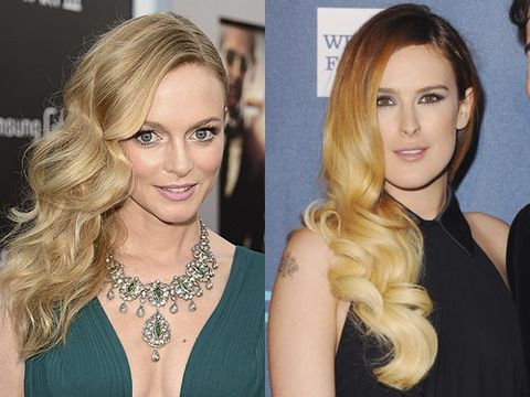 "<p>Deep-parted and side-swept with a glossy finish - the siren wave is the sexiest style of the season. While Heather Graham does the classic glamour version, Rumer Willis with her glossy ombre tones, does big 'n' bouncy in a modern way.<br /><strong> </strong><br /><strong>Get the look:</strong> It's all about the old school heated rollers that are back and better than ever. The FHI Heat Rollers (£22.95, <a href=""http://www.theukedit.com/fhi-heat-rollers-large/10757661.html?utm_source=COS&utm_medium=Article/Gallery&utm_campaign=DEFAULT"" target=""_blank"">Cosmopolitan Boutique</a>) come in small, medium, large or extra large options. And watch our video on how to so the sexy side-sweep <a href=""http://www.cosmopolitan.co.uk/beauty-hair/news/hairstyles/how-to-get-side-swept-wavy-hairstyle-video-hair-tutorial"" target=""_self"">here</a>.</p>"