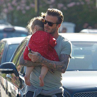 <p>Oh Becks, you're always finding ways to make our hearts melt even more. This picture of David Beckham and daughter Harper is cute as pie. We love his slicked-back hair and sunnies. Leave it to DB to rock the perfect amount of stubble *sigh*.</p>