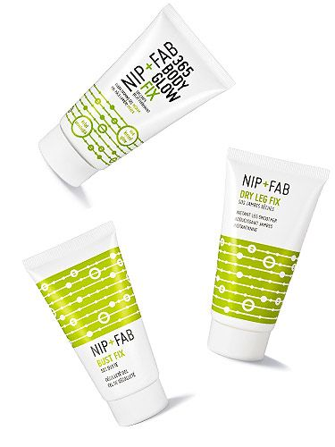 """<p class=""""p1"""">Free Nip+Fab beauty treats anyone? Pick up the August issue of Cosmo and you'll get one of these three Nip+Fab treats*:</p> <p class=""""p1"""">365 Body Glow<br />Leg Fix<br />Bust Fix</p> <p class=""""p1"""">Psst, why not get all three? Plus Get 20% off Nip+Fab only inside this month's issue</p> <p class=""""p1"""">*Not available with subscription copies</p>"""