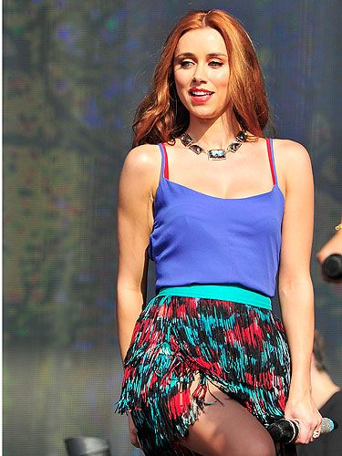 <p>Una Healy gives us major festival inspiration with this electric blue vest top and animal print red and green skirt combo.</p> <p>Accessorised with black shoes and a statement necklace, Una's rocking an outfit we can definitely see ourselves having a go at for some evenings in beer gardens this summer.</p>