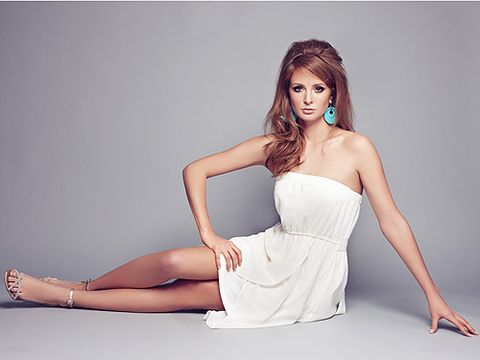 <p>Now that Millie Mackintosh is MIA from Made in Chelsea, she has plenty of time for other projects. Her newest gig is this: Modelling for Very. The posh lady has donned big hair, big shades and big style for Very's Love Label. Channeling 50s glamour Mills is working the camera, big time!</p>