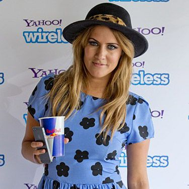 <p>Xtra Factor host Caroline Flack has some fun in the sun before another week of X Factor audtions.</p>