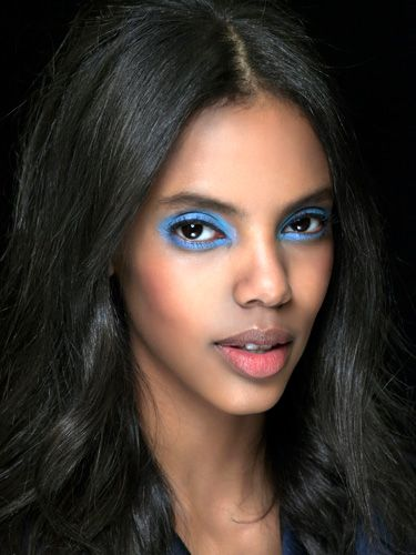 <p>A/W13 make-up steers away from the safe, delivering shots of shocking shadows to make a vivid impact.</p> <p>At Unique a turquoise haze adorned the models' lids, lending a 90s Brit pop feel with a powdery, chalky texture.</p> <p>Meanwhile at Alexandre Herchcovitch colours were etched in the crease, creating a bold bolt of colour that appears when you bat your eyes. </p>