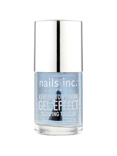 "<p>Nails Inc are the go-to brand for up-the-minute buys, and latching on to the gel trend, they've released this clever top coat.</p> <p>Infused with gel technology to allow for long-lasting wear, it can be worn over any polish to extend its life. Plumping nails and glossing them up with only one quick coat, this is a no-fuss solution for attaining that sleek finish.</p> <p>Kensington Caviar Gel Effect Top Coat, £12, <a title=""http://www.nailsinc.com/nailpolish/kensington-caviar-gel-effect-plumping-top-coat/1261/"" href=""http://www.nailsinc.com/nailpolish/kensington-caviar-gel-effect-plumping-top-coat/1261/"" target=""_blank"">Nails Inc</a></p>"