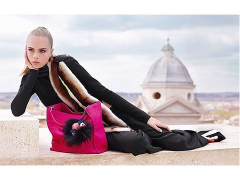 "<p>The Fendi campaign, called Roman Skyline, was shot by the legendary Karl Lagerfeld and features Cara posing on a Roman rooftop alongside model Saskia De Braw.<br />Karl expalined: ""For our 2013-2014 Fall/Winter season, we sought to celebrate the love between Fendi and Rome with a very feminine campaign evoking a chic and modern Roman holiday.""</p>"