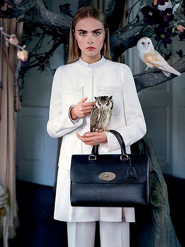 <p>Featuring Cara Delevinge, beautiful owls and lush bags, Mulberry's AW13/14 campaign is all about beauty of the good ol' English countryside, inspired by childhood fables, rural landscapes and the secrecy of nature. We absolutely adore those owls!</p>