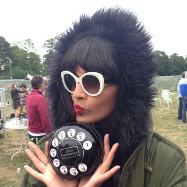 <p>We're in love with Jameela's Lulu Guinness telephone bag – where is Lady Gaga when you need her? The presenter appeared to be having a lot of fun with her festival accessory. <br /><br /></p>