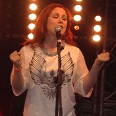 <p>Backstage at V Festival guests were treated to a special acoustic performance from Katy B who took to the Louder Lounge's bandstand with serious style.</p>